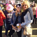 With Paula Edwards at the Women's March.
