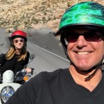 SCOOTER SELFIE at RED ROCK CANYON.